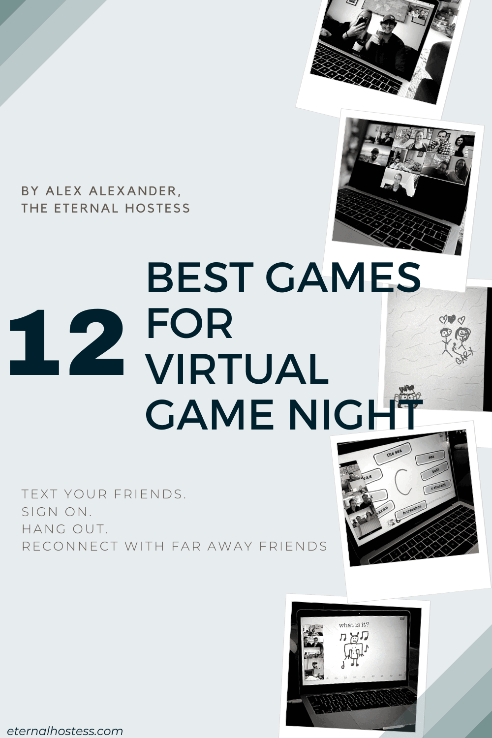 """Blog Post Header for """"12 Best Games for Virtual Game Night"""""""